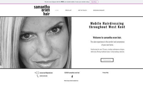 Samantha Oram Hair Site design and build to clients specifications in...
