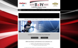 B & W Auto Body I redesigned the B & W Auto Body website, using a ...