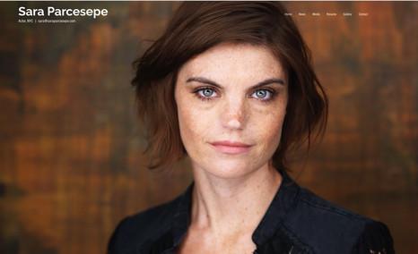 saraparcesepe Small actress portfolio site to promote and showca...