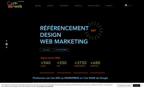 site-internet-wix par OO WEB RÉFÉRENCEMENT DESIGN WEB MARKETING de site WIIX  O...