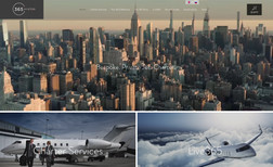 365 Aviation Visually rich website for a private jet company in...
