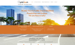Cyclazoom Classic site designed for engineering firm.
