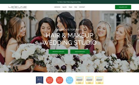 Lejeune Artistry Hair & Makeup Wedding vendor site for hair and makeup