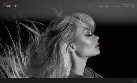 Glam Group Aesthetics A stunning website for the a spa in the beauty ind...