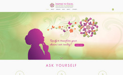 Inspire to Excel Website for a training and coaching company that e...