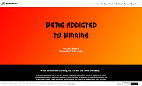 Hypemasters Game Developers brand new designer website