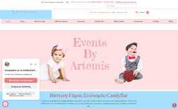 Events By Artemis Website and e-shop with wedding andi vaptism decor...