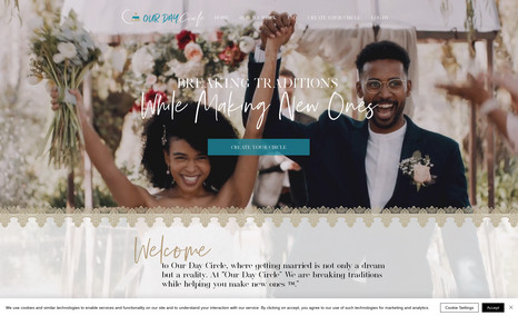 Our Day Circle A new promotional site for a wedding crowd funding...
