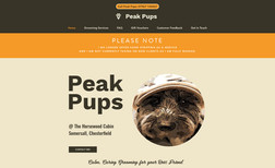 Peak Pups - Dog Grooming New business start up mobile friendly website that...