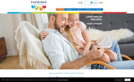 Papirinho Clube de Leitura Infantil Foi feita a criação da marca, criação do e-commerc...