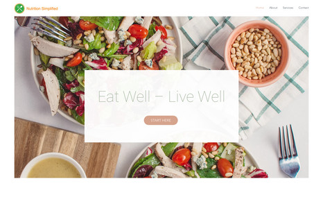 Nutrition Simplified A calming website for the health and wellness indu...