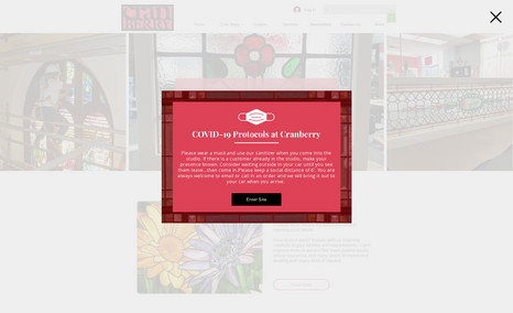 Cranberry Stained Glass The site's focused on working with glass. Creating...