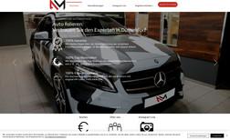 Automorphose Webseite für einen Fahrzeugfolierer