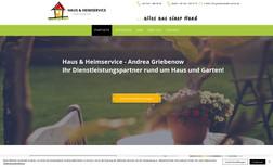 hausservice Webseite für einen Haus- und Heimservice-Dienstlei...