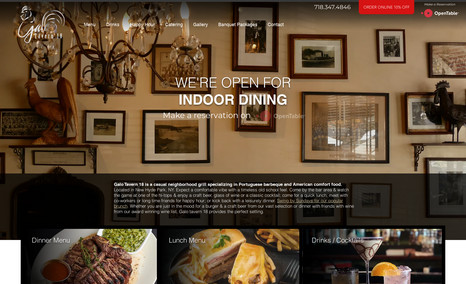 Galo Tavern 18 Long Island / Queens Restaurant website redesign. ...