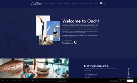 Ouch Relief - Website Design & Development Casey was looking for a modern looking website tha...