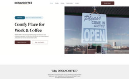 Deskncoffee Booking and landing page for coworking space.