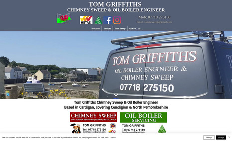 Tom Griffiths - Ceredigion Chimney Sweep Debbie has always supported our small business...w...