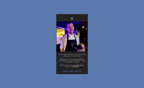 Trattoria Senza Nome Restaurant website, simple scroll down feature, tw...
