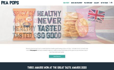 Pea Pops UK based crisp brand.