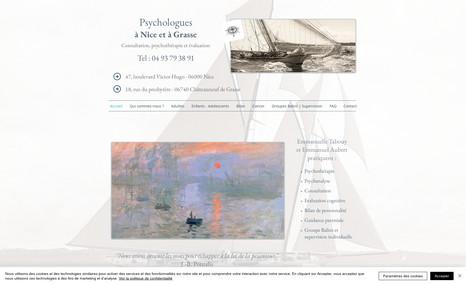 psychologues-nice Reprise du site : amélioration esthétique, ergonom...