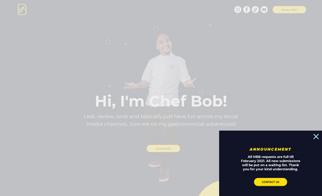 Chef Bob Celebrity Chef, Singapore Official site for Chef Bob