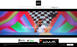 DJsyna A young and vibrant website for a starting artist ...