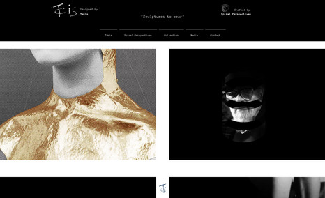 Takis Collection A website for the jewelry collection designed by t...