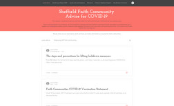 COVID-19 Advice for Faith Communities in Sheffield Created in March 2020