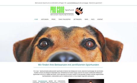 Bettwanzen Spürhunde Redesign und SEO-Optimierung.  Für unsere Kunden a...
