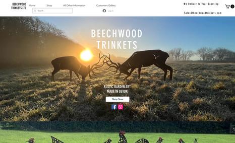 Beechwood Trinkets Rustic Iron Garden gifts eCommerce Site