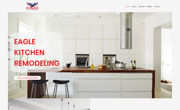 Eagle Kitchen Remodeling Complete new business package, featuring logo, web...
