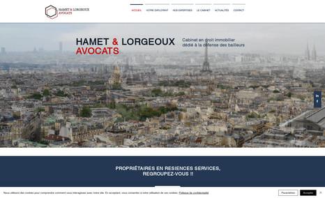 HAMET & LORGEOUX AVOCATS Reprise du site et finalisation (structure, ergono...