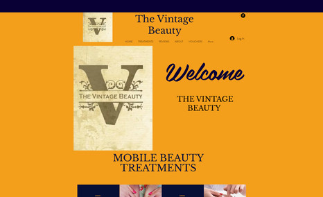 The Vintage Beauty A lovely website for a Beauty Salon who wanted an ...