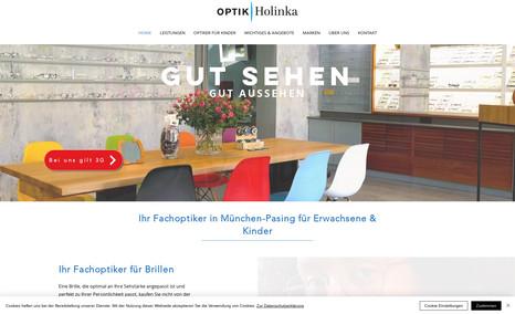 Optik Holinka - Fachoptiker in München-Pasing Redesign und SEO-Optimierung. Der Fachoptiker in M...