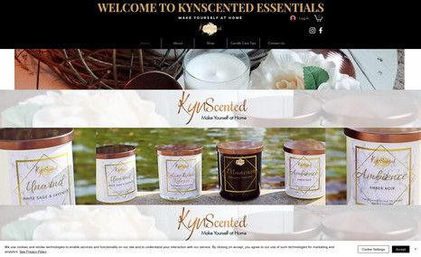KynScented Essentials This was my first candle website design. It featur...