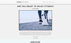 Change with Beth Created for fitness trainer who specializes in tra...