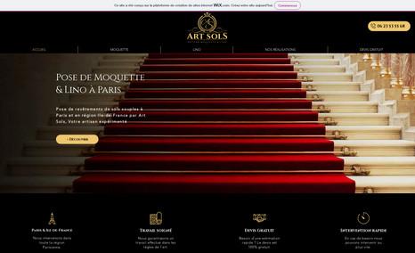 Art Sols Création du site Wix & Logo d'une entreprise de po...