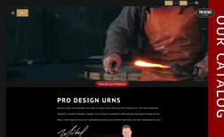 Pro Design Urns Migrated the website from WordPress and redesigned...