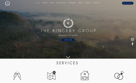 The Kingery Group Website about travel, weddings and events.