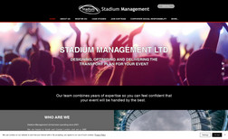Stadium Management Redesigned website for an Event transport company ...