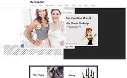 The Pin Up Girl An on location hair and brush makeup website with ...