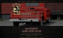 Cafe Chev Rock Site institucional de uma Hamburgueria Goumet Conc...