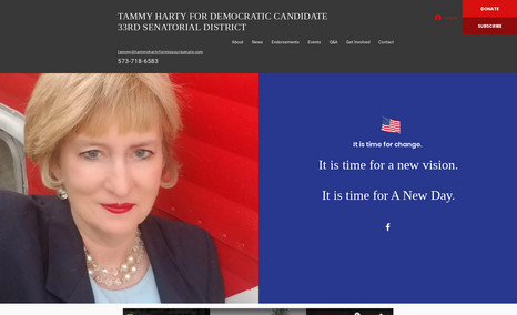 Tammy Harty for Senate Website for a local Missouri Seante seat.