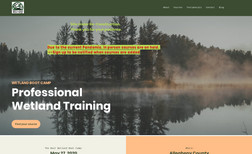 wetlandbootcamp Our client needed a total refresh of his old site....
