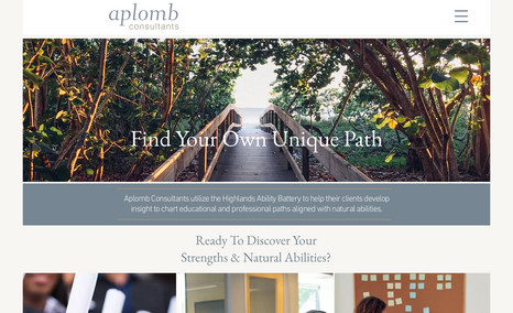 Aplomb Consultants A simple, clean website to communicate what they d...