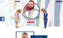 The Dan Judo Academy Website Design with Booking