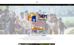 website WE CARE ABOUT THEM!  Them Foundation is a non-prof...