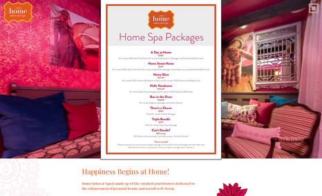 Home Salon & Spa Happiness Begins at Home! Home Salon & Spa is made...