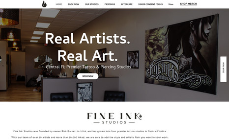 Fine Ink Studios Fine Ink Studios was founded by owner Rick Barnett...